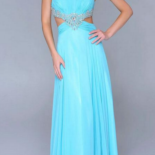 Backless Prom Dresses,Blue Prom Dress,Backless Prom Gown,Open Back Prom Dresses,Blue Evening