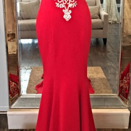 Custom Made Charming Red Embroidery Prom Dress, Sexy Sweetheart Evening Dress,