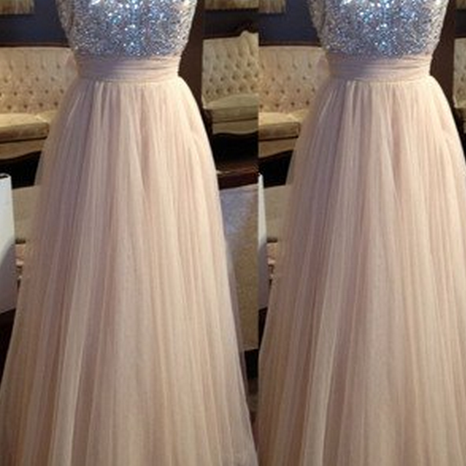 Tulle Prom Dresses,Charming Prom Dresses,A-line Prom Dress,Long Prom Dress,