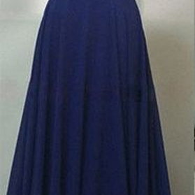 Royal Blue Chiffon Prom Dresses Wedding Party Dresses Evening Dresses with Spaghetti Straps