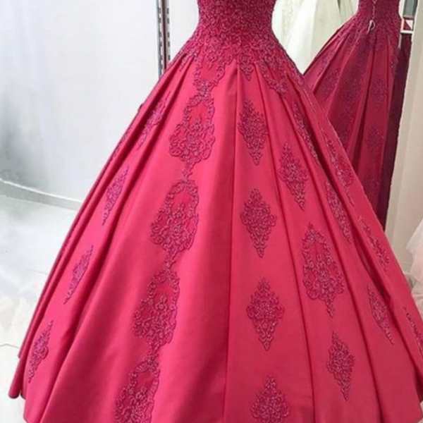 A-Line ball gown prom dress , prom gown