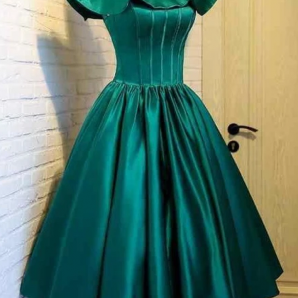 Homecoming Dresses off shoulder green homecoming dress
