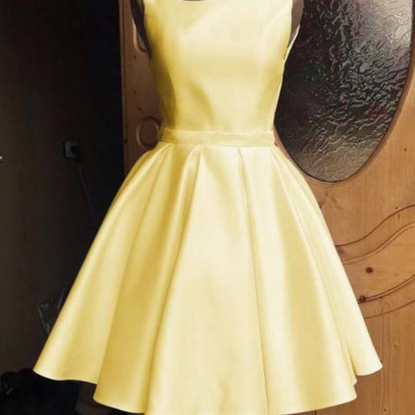 Cute Bow Homecoming Dresses A Line Sleeveless