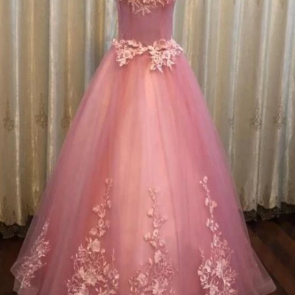 Beautiful Sweetheart Tulle Party Dress, Formal Dresses