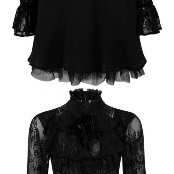 Black Long Sleeve Homecoming Dress With Lace