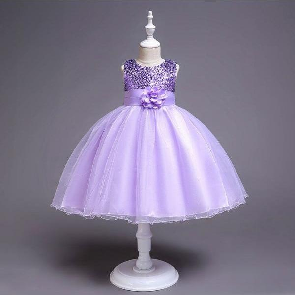 Flower Girl Dress, Flower Girl Dresses,Hot style girls dress children bow dress princess dress evening dress