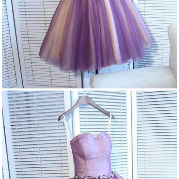 Sweetheart Tulle Pretty Homecoming Dresses, Short Prom Dress