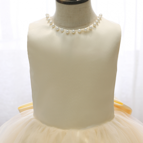 Flower girl dresses, Girls Dress New High-End V Back Big Bow Champagne Sleeveless Princess Dress For Girl Elegant Birthday Christmas Clothes 2-14 Yrs