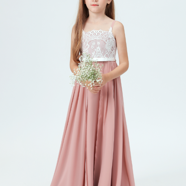 Flower girl dresses, Lace Little Bridesmaid Dresses For Wedding First Communion Dresses Party Prom Princess Gown Pageant Dresses Elegant for Girls
